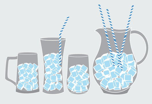 cool glass of iced,vector illustrations