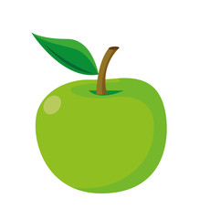 Isolated green Apple Vector