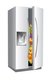 fridge on white background