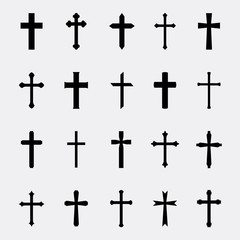 Crosses vector set