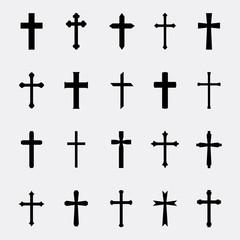 Crosses vector set
