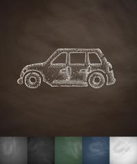car icon. Hand drawn vector illustration
