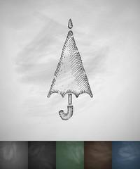 umbrella icon. Hand drawn vector illustration