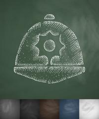 headdress icon. Hand drawn vector illustration