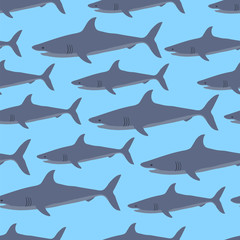 Sharks seamless background.