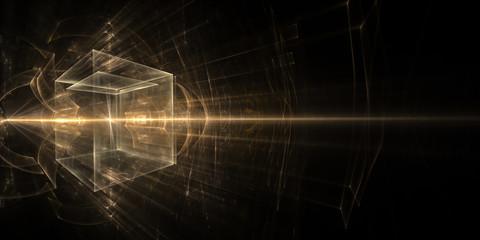 Luminous three-dimensional cube