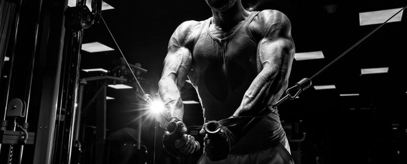 very power athletic guy bodybuilder