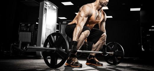 very power athletic guy bodybuilder