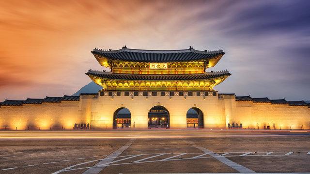 SEOUL,South Korea - MAY 22: Gwanghwamun gate at Geyongbokgung Pa