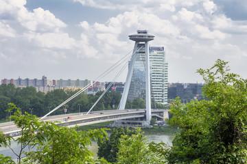 bridge over danube in bratislava