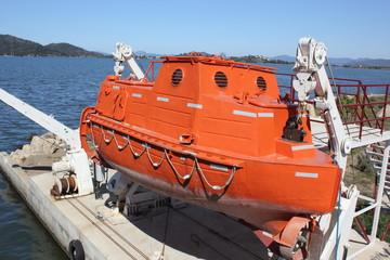A life saving boat at fethiye in turkey 2016