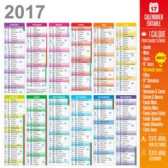 Calendrier 2017 - Multicalques