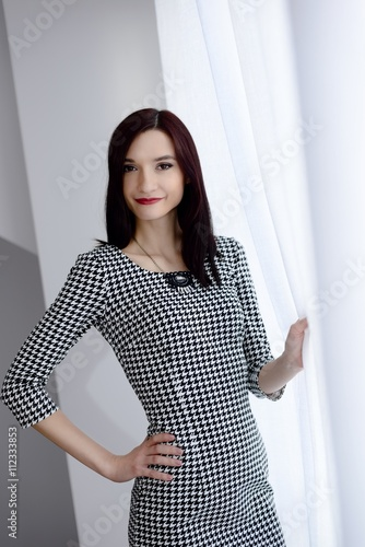 Formally Dressed Young Brunette Woman Stock Photo And Royalty Free