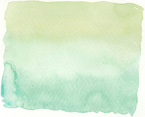 faded green shading tones abstract wet watercolor background