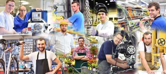 Portraits von Arbeitern in der Industrie und Handwerk