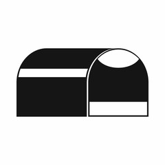 Booth for dog icon, simple style