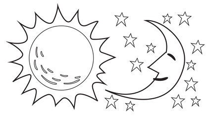 Sun and Moon Doodle