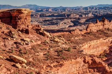 Whitecrack area- White Rim Road- Canyonlands National Park- Island in the Sky- Utah. This permit only camping area off White Rim Road is the most popular.