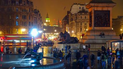 Trafalgar Square a tourist attraction in central London