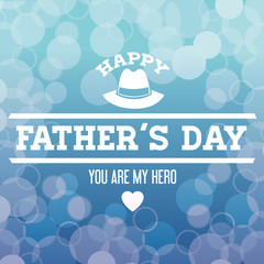 Happy Fathers day design. vintage icon. Colorful illustration