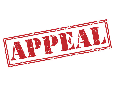 appeal red stamp on white background
