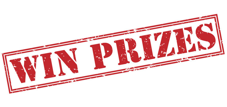 win prizes red stamp on white background