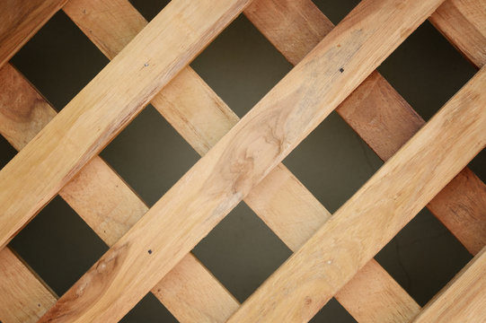 wooden cross or lattice wall