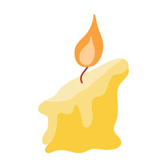 Candle isolated illustration