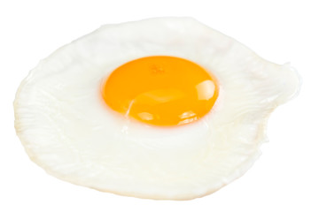 Fond de hotte en verre imprimé Ouf Fried Egg isolated on white