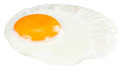 Photo on textile frame Egg Fried Egg isolated on white