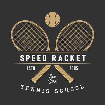 Vintage tennis logo, badge, emblem and much more.