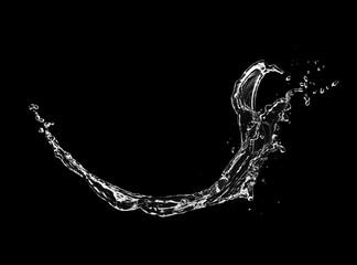 Photo sur Plexiglas Eau Blue water splash isolated on black background