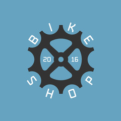 Bicycle shop vector logo