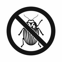 No potato beetle sign icon, simple style