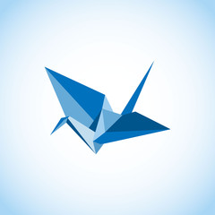 Traditional Japanese Origami Crane vector illustration