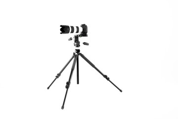 professional camera on a tripod