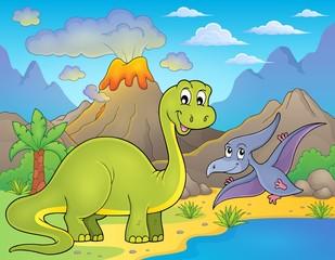 Photo sur Plexiglas Dinosaurs Dinosaur topic image 9