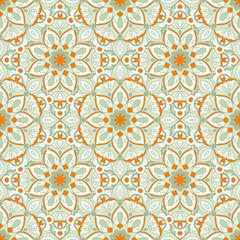 Deurstickers Marokkaanse Tegels Seamless pattern. Decorative pattern in beautiful colors. Vector background