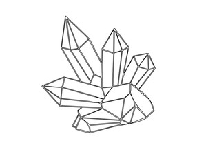 Crystal outline