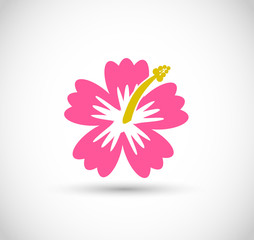 Tropical flowe icon vector