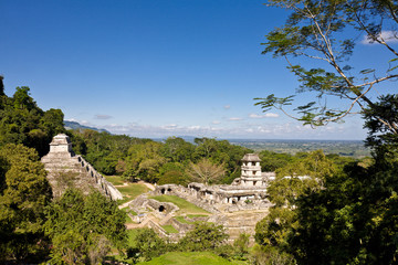 Palenque - world heritage, old mayan civilization, Mexico