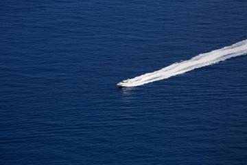 Boat Wake on Mediterranean Sea