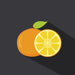 Orange Flat Vector