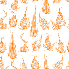 Seamless texture with flames. Great textures for your design.