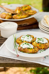 Australian Crash Hot Potatoes with Sour Cream