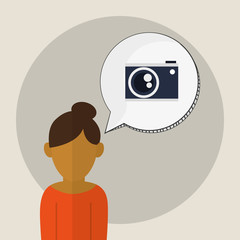 camera icon. Gadget concept. Flat illustration , vector