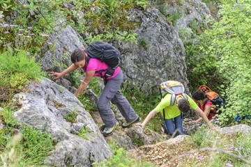 Erlebniswanderung im Gebirge