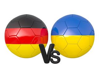Germany / Ukraine soccer game 3d illustration