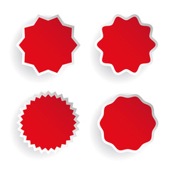 Star label vector set red