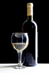 Elegant red wine glass